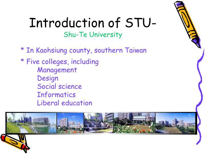 Introduction of STU-
