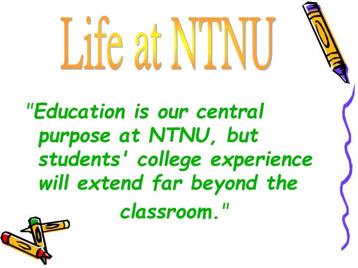 Life at NTNU