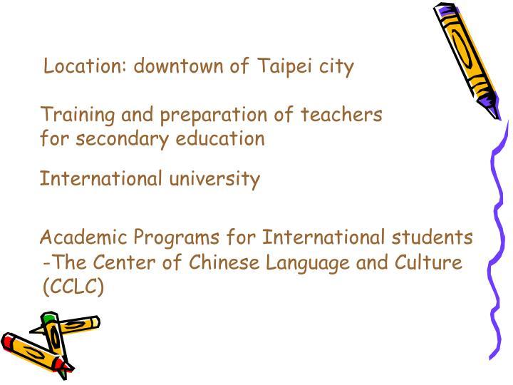 Location: downtown of Taipei city