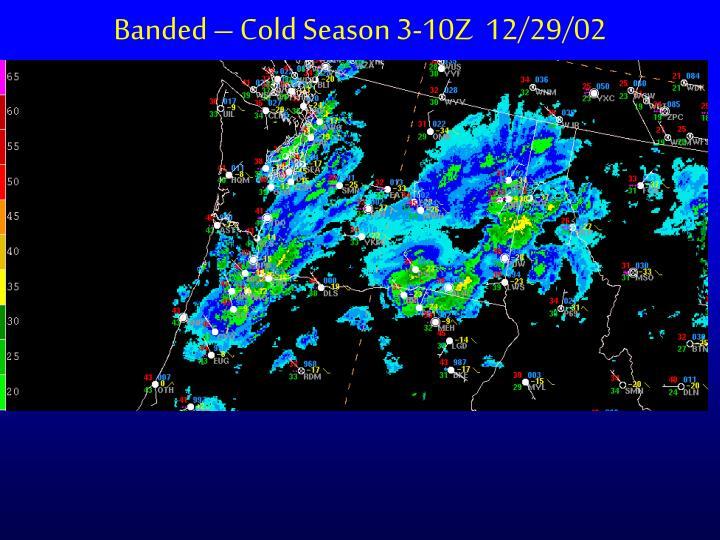 Banded – Cold Season 3-10Z  12/29/02