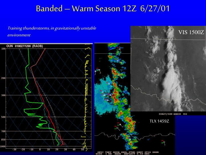 Banded – Warm Season 12Z  6/27/01