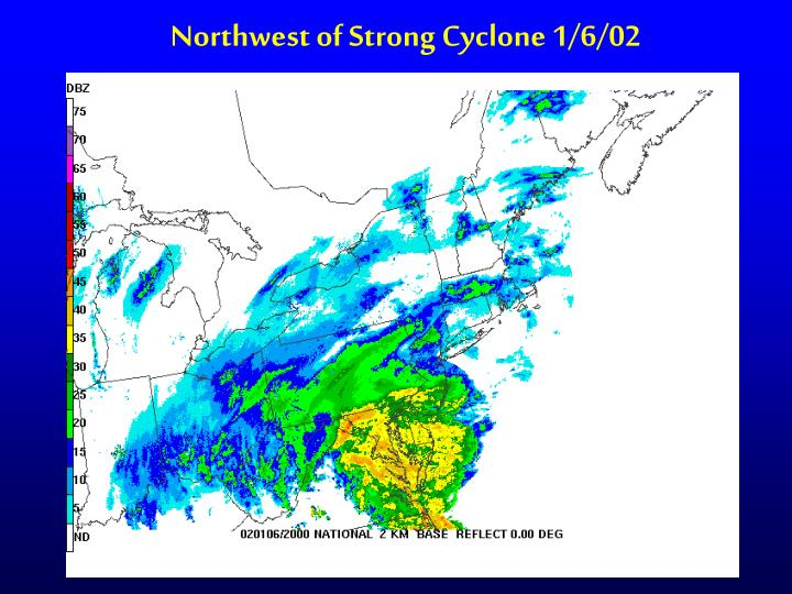 Northwest of Strong Cyclone 1/6/02