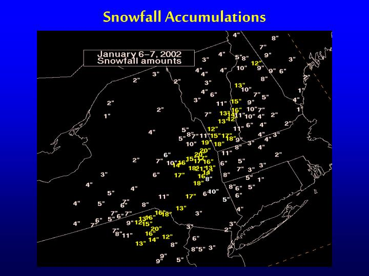 Snowfall Accumulations
