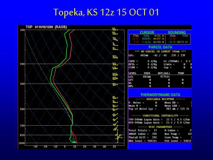 Topeka, KS 12z 15 OCT 01