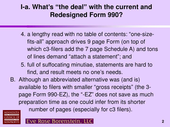 I a what s the deal with the current and redesigned form 9901