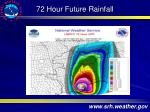 72 hour future rainfall