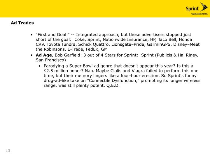 Ad Trades