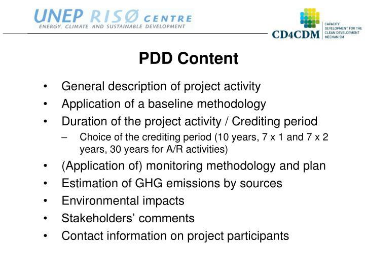 PDD Content
