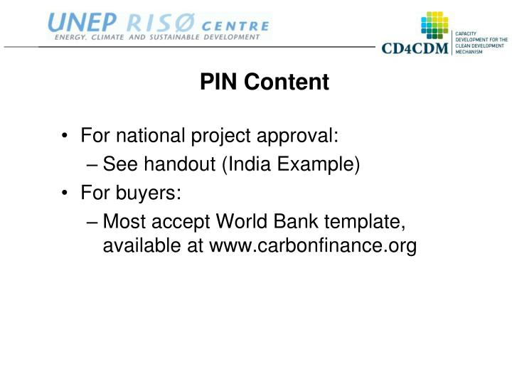 PIN Content