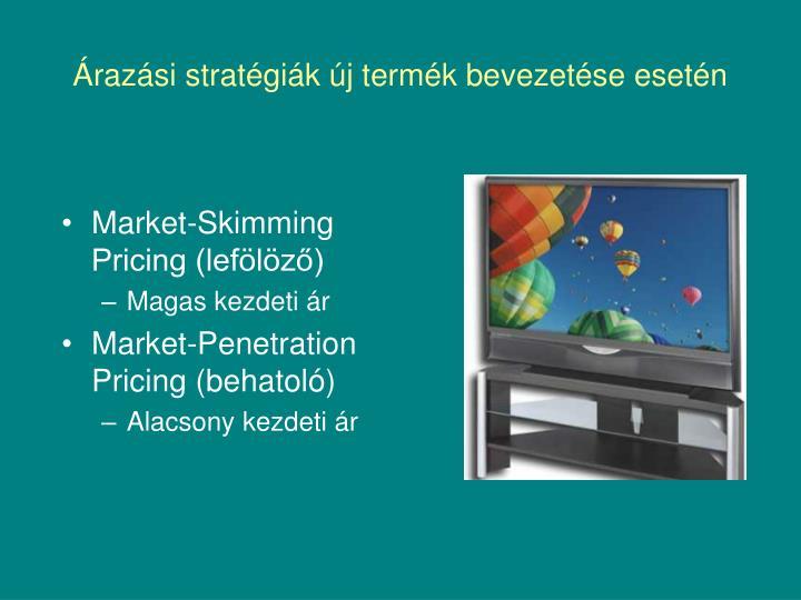 Árazási stratégiák új termék bevezetése esetén