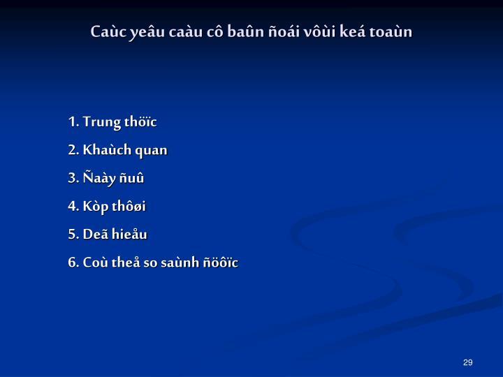1. Trung thöïc