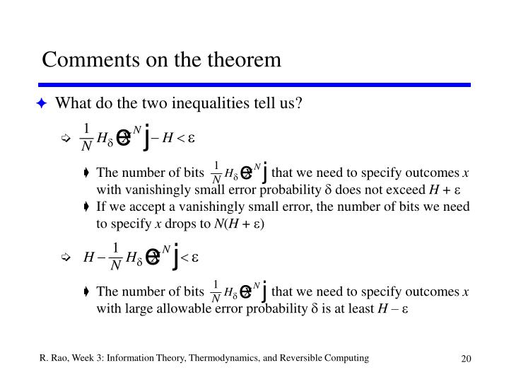 Comments on the theorem
