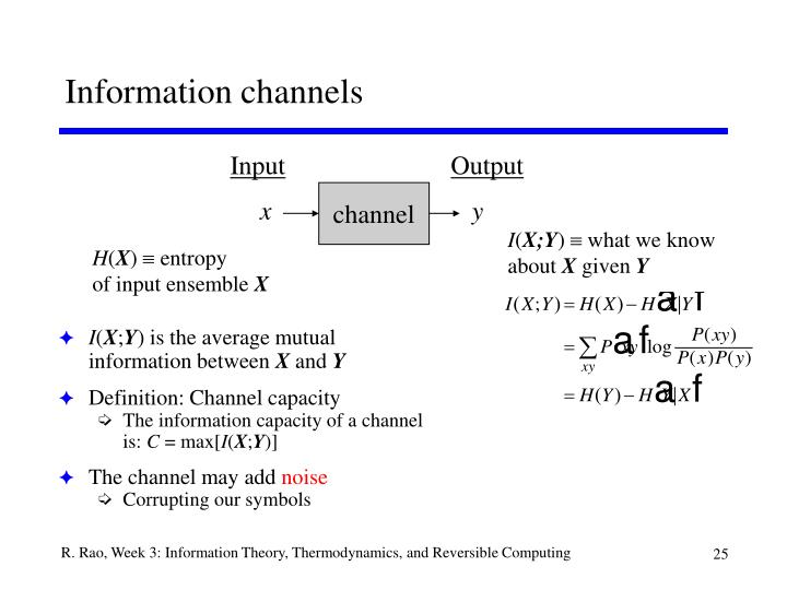 Information channels