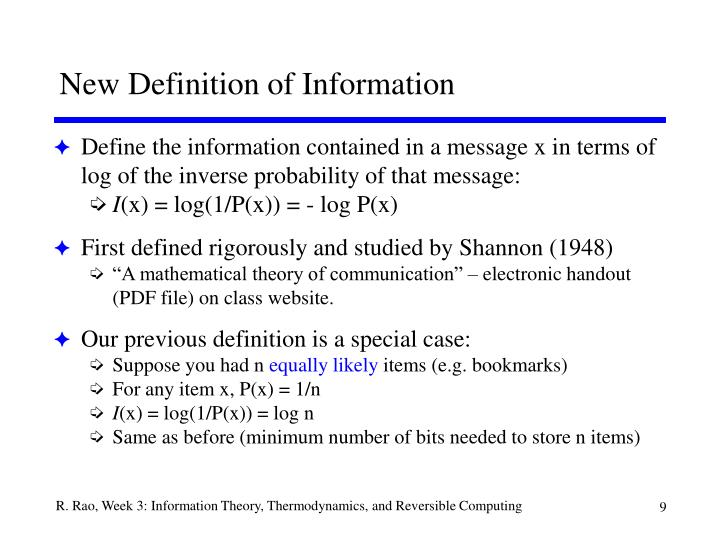 New Definition of Information