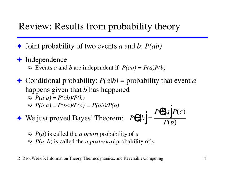 Review: Results from probability theory