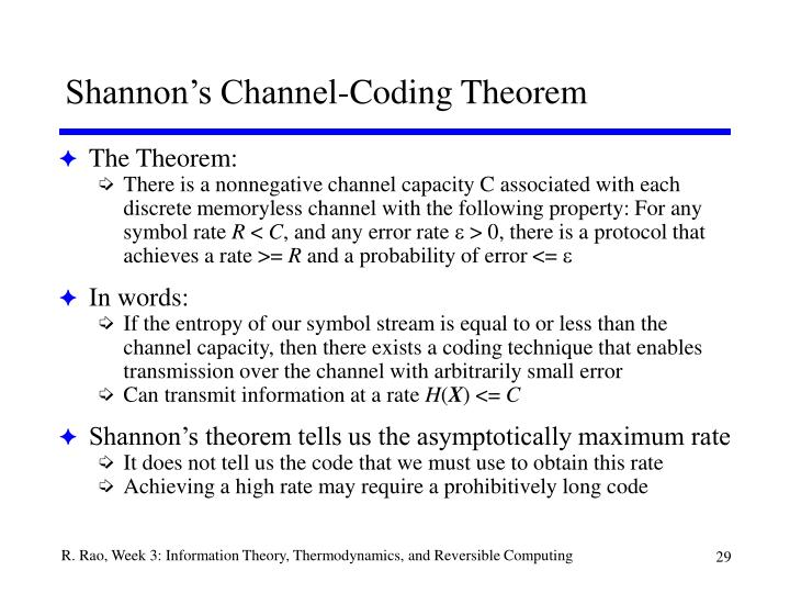 Shannon's Channel-Coding Theorem