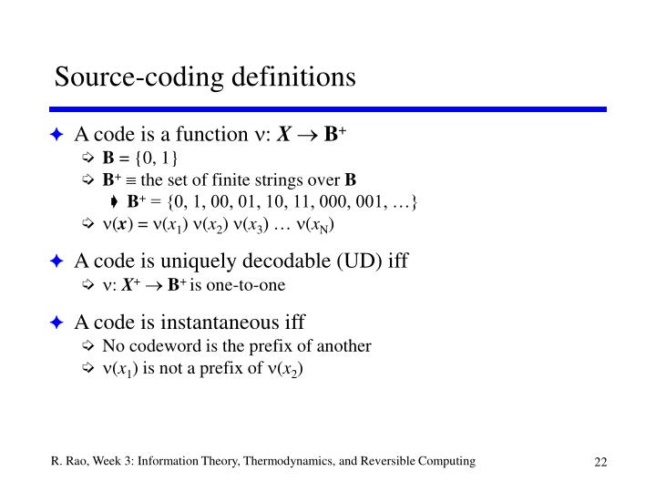 Source-coding definitions