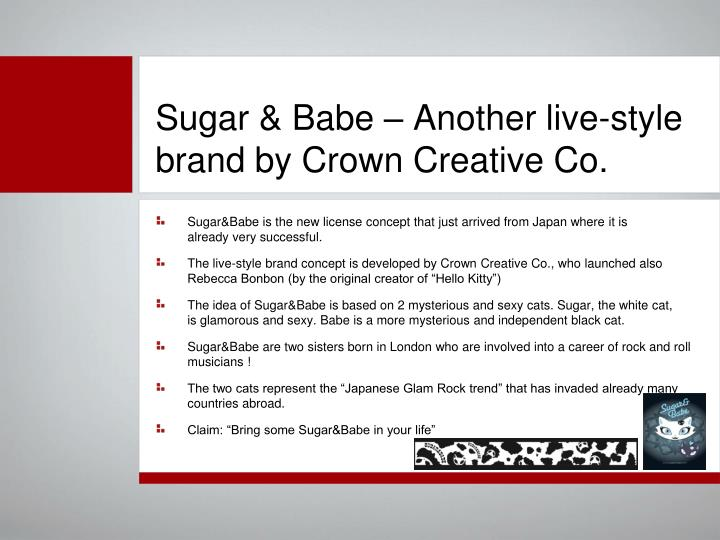 Sugar babe another live style brand by crown creative co