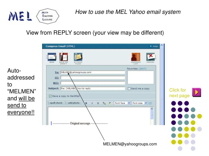 View from REPLY screen (your view may be different)