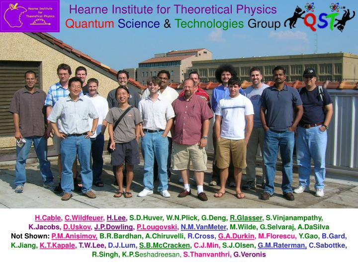 Hearne Institute for Theoretical Physics