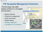 pw geospatial management extension