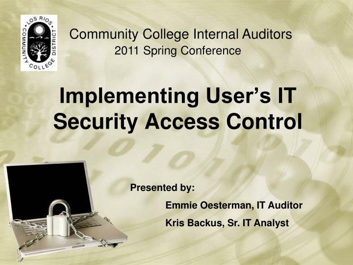 implementing user s it security access control n.