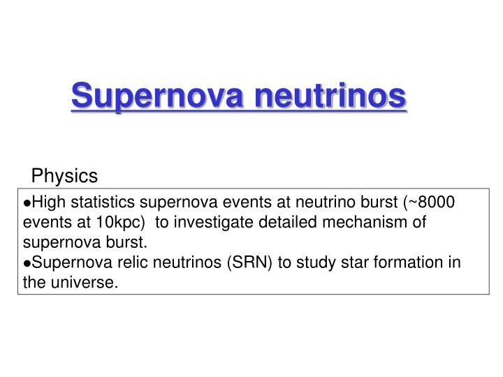 Supernova neutrinos