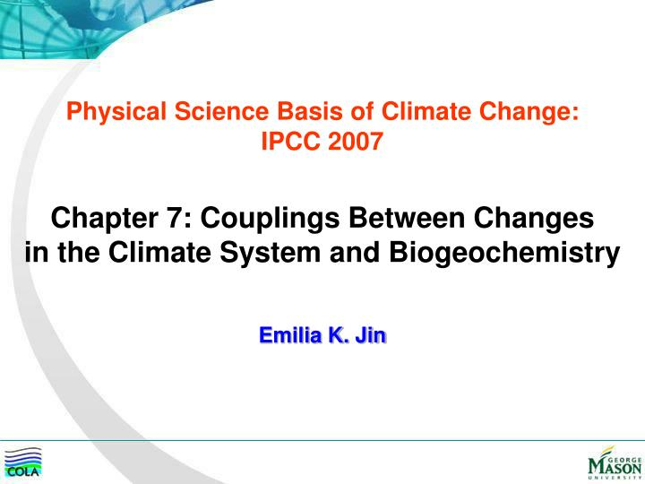 physical science basis of climate change ipcc 2007 n.