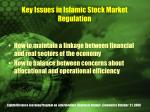 key issues in islamic stock market regulation