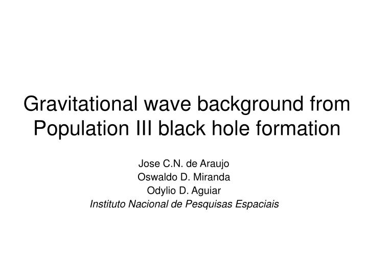 Gravitational wave background from Population III black hole formation