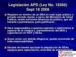 legislaci n apd ley no 18360 sept 16 2008