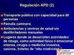 regulaci n apd 2
