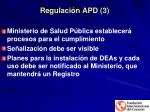 regulaci n apd 3