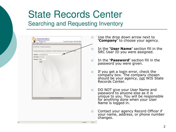 State records center searching and requesting inventory1