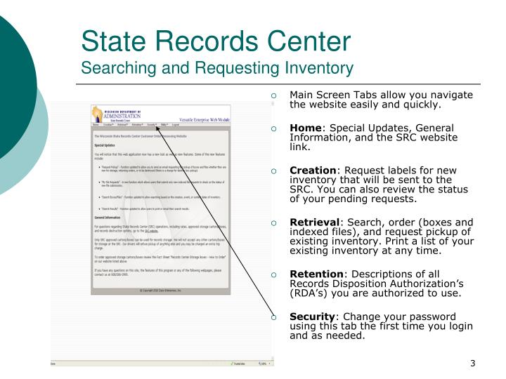 State records center searching and requesting inventory2
