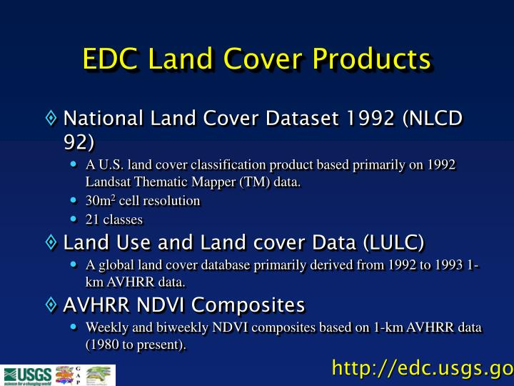 EDC Land Cover Products