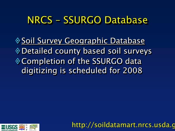 NRCS – SSURGO Database