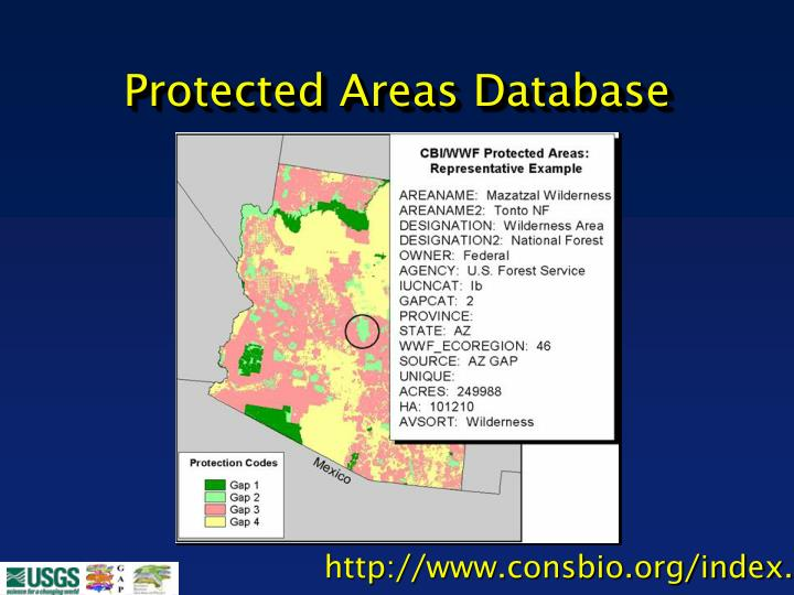 Protected Areas Database