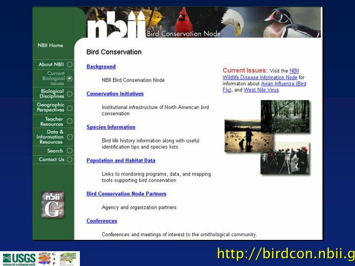 http://birdcon.nbii.gov