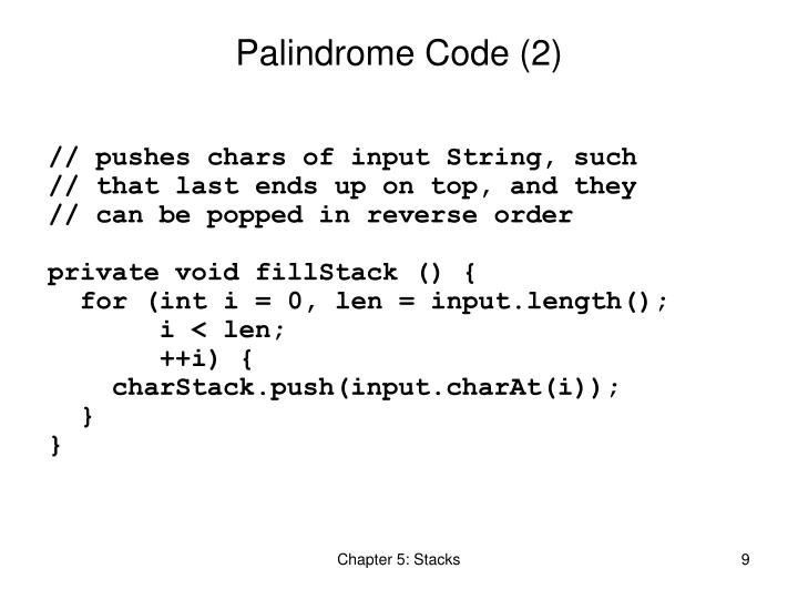 Palindrome Code (2)