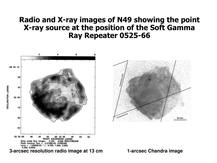 Radio and X-ray images of N49 showing the point