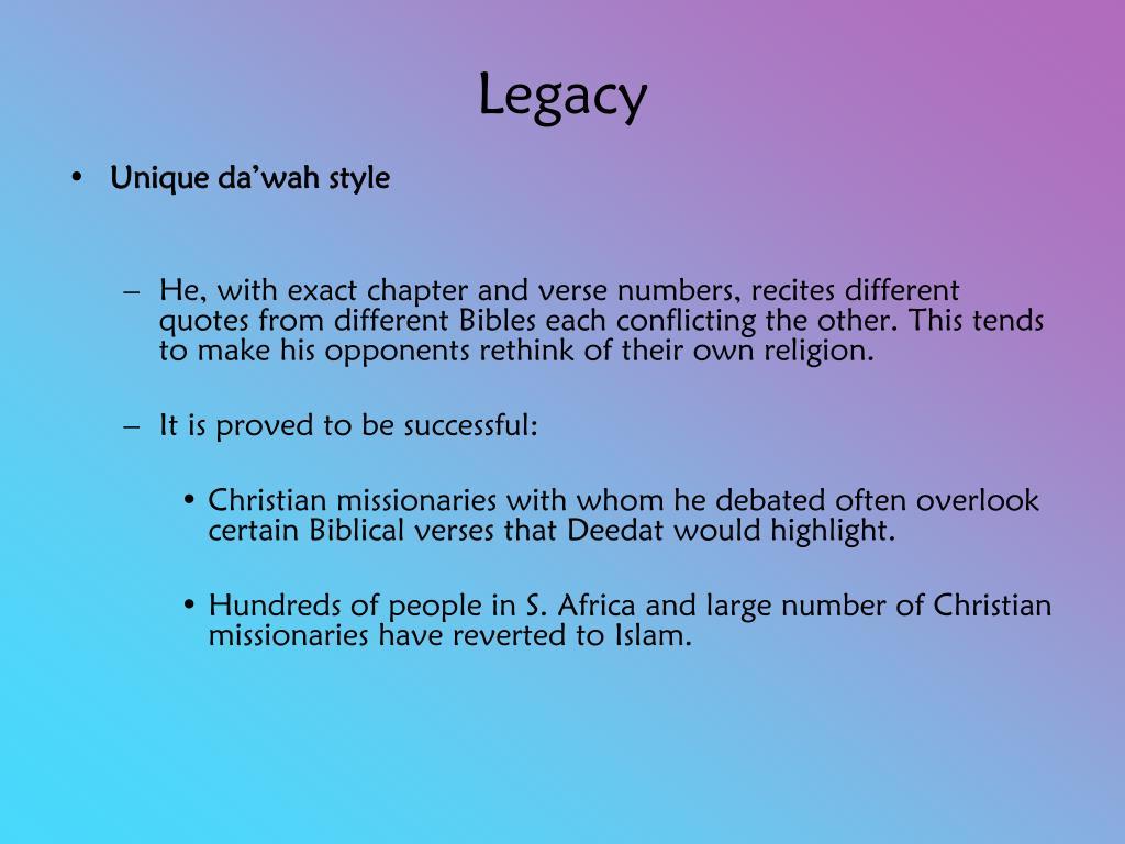 PPT - Ahmed Deedat (1918 - 2005) PowerPoint Presentation - ID:6948667