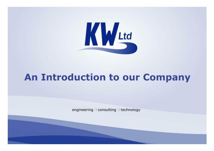 An Introduction to our Company