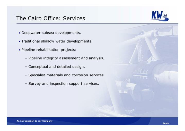 The Cairo Office: Services