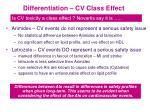 differentiation cv class effect
