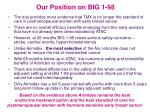 our position on big 1 98
