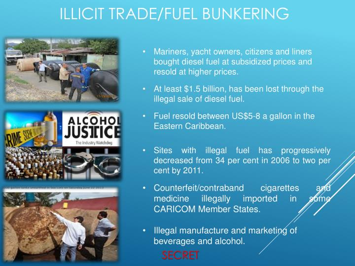 Mariners, yacht owners, citizens and liners bought diesel fuel at subsidized prices and resold at higher prices.