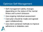 optimize self management