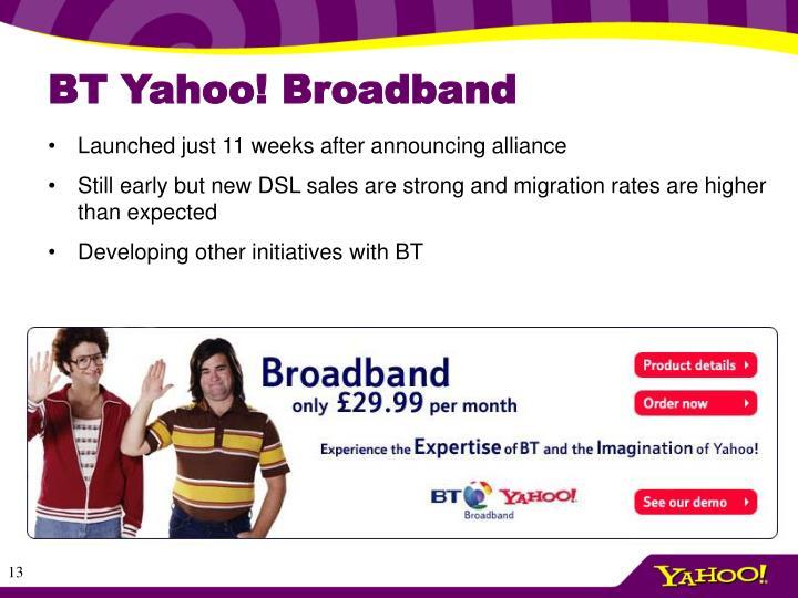 BT Yahoo! Broadband
