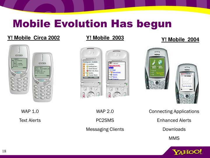 Mobile Evolution Has begun
